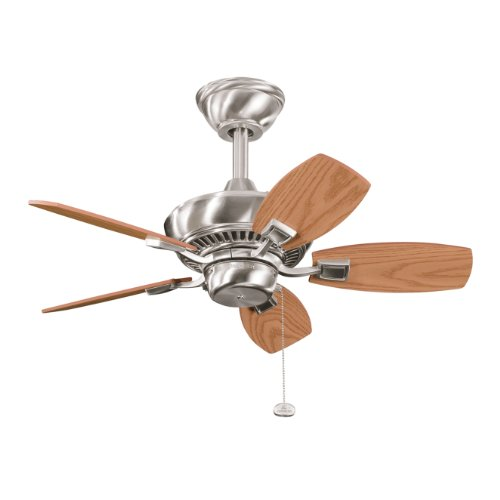Oak Ceiling Fans With Lights : Kichler lighting bss canfield in ceiling fan