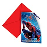 Amazing Spiderman Party - Spiderman Party Invitations x 6