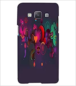 PrintDhaba Pattern D-2159 Back Case Cover for SAMSUNG GALAXY E5 (Multi-Coloured)