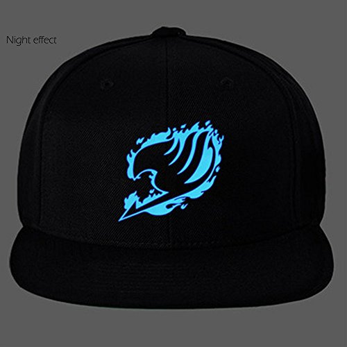 CosEnter Anime Fairy Tail Guild Logo Noctilucent Cap Sun Hat Cosplay C