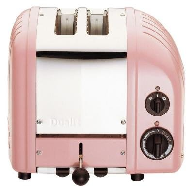 2-Slice Classic Toaster, Automatic Extra Wide 28mm Slots, with Defrost Setting, Petal Pink