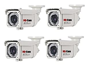 HQ-Cam® 4 packs Bullet Security Camera Sony Super HAD II CCD- 700 TV Lines high Resolution 1/3
