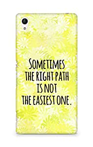 AMEZ the right path is not easy Back Cover For Sony Xperia Z4