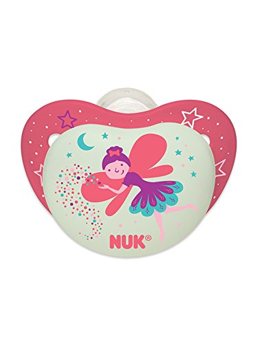 NUK Night Glow in the Dark Pacifiers in Assorted Colors and Styles, 6-18 Months