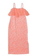 Kate Mack Girl's 7-16 Tahitian Sunset Dress in Coral