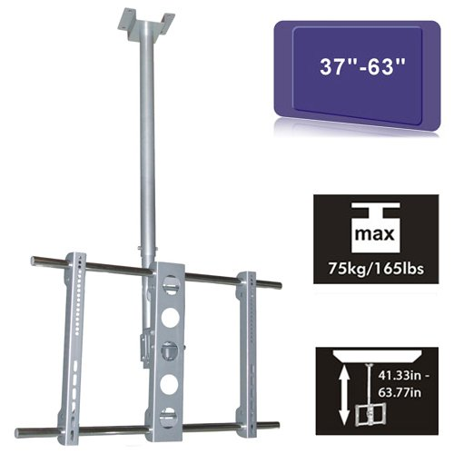 """Cmple - Silver Heavy Duty Adjustabletilt Mount For Tv'S From 37"""" To 63"""""""