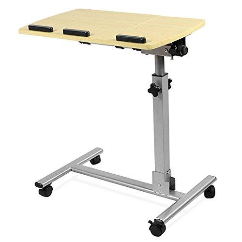 yahee pflegetisch laptoptisch betttisch beistelltisch auf rollen verstellbar in hhe neigung. Black Bedroom Furniture Sets. Home Design Ideas
