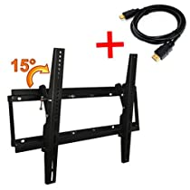 Masione HLD-X0780A Tilt Wall Mount Bracket For 32-60 inches LCD Plasma TV 15 degree Adjustable with HDMI Cable