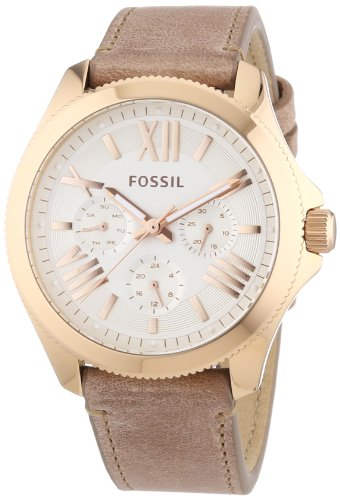 Fossil Damen-Armbanduhr Cecile Multifunktion Analog Quarz Leder AM4532
