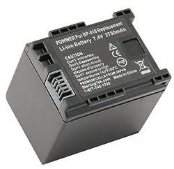 STK's Canon BP-819 Battery - 2700mAh for Canon XA10, Vixia HF G10, HF M40, HF200, HF10, HF20, HF S21, HF M41, HF S100, HF S200, HF M400, HF100, HG20, HF S20, HF S30, HF S10, HF11, HG21, HF S11, M31, M300, M30, CG-800 from STK/SterlingTek