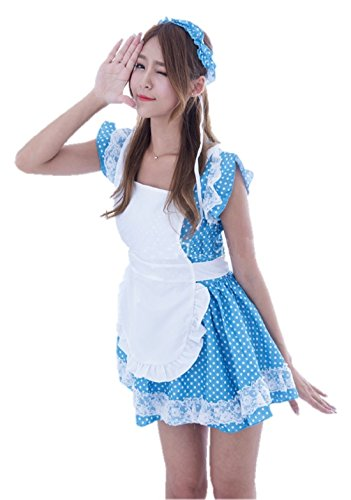 [ShonanCos Cosplay Fancy Dress Hot Cafe Maid Costumes Uniforms] (Alice In Wonderland Costume Ideas Diy)