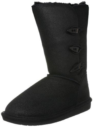 Bearpaw Women's Sarah Vintage Black Fur Trimmed Boot 1333W 5 UK