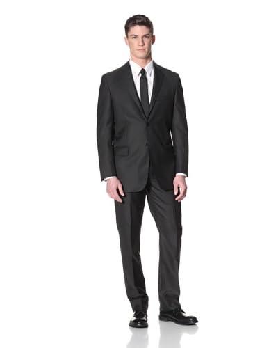 Yves Saint Laurent Men's Textured Suit  [Solid Black]