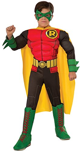 DC Superheroes Deluxe Robin Costume, Child's Small