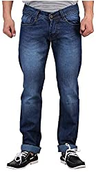 D2NINE Men's Slim Fit Jeans (D2NINE-BLUE-_Blue_28)