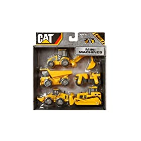 Buy Toystate Caterpillar Construction Mini Machine 5-Pack by Toystate