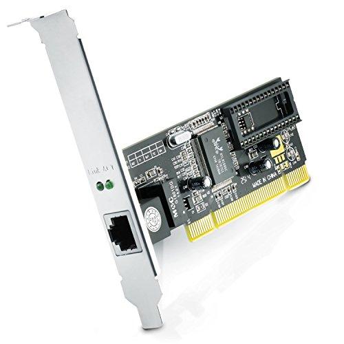 CSL - Carte réseau Gigabit LAN PCI / Adaptateur Fast Ethernet 10/100/1000 DSL Realtek | 2000 Mo (Full Duplex) | 32 bits | PCI Bus 2.2