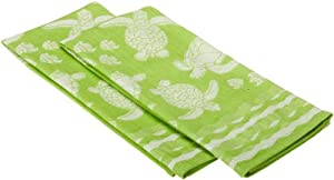 DII Seashore Sea Turtles Jacquard Dishtowel, Set of 2 at Sears.com