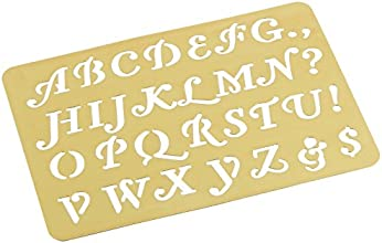 Darice Brass 3-14 Inch by 2-14 Inch Embossing Stencil Letters