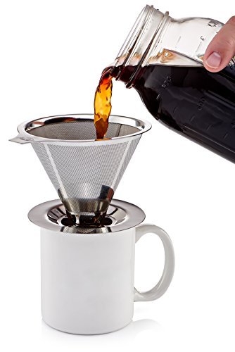 JavaPresse-Pour-Over-Coffee-Maker-with-Stand-Clever-Hand-Drip-Brewer-with-Reusable-Filter-Dripper