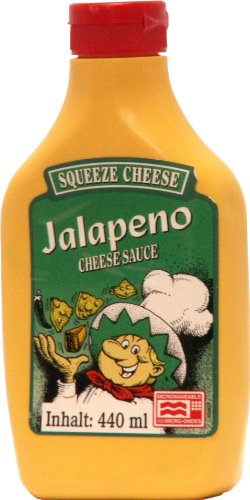 Old Fashioned Foods Jalapeno Squeeze Cheese Microwaveable, 2er Pack (2 x 440 ml)
