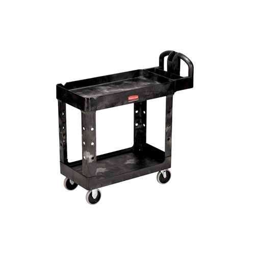 Rubbermaid 4500-88  2 Shelf Heavy-Duty Utility Cart