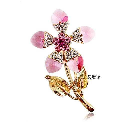Austrian Swarovski Crystal Fashion Lady Pin Brooch -Beautiful and The Highest Quality Austrian Crystal with Elegant Flower Design 6 cm W x 3.2 cm H Comes With Free Swarovski Jewelry Velvet Bag,Attractive and Gorgeous . Super Saving w/100% Satisfaction Guaranteed ! A Great Gift For Your Friends or Loved Ones.