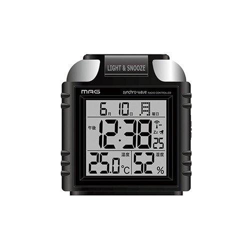 MAG(マグ) デジタル  アラームクロック 電波 目覚まし時計 喝(かつ) 大音量ベル T-672 BK ブラック T-672 BK