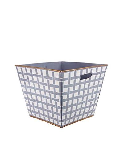 Jayes Basketweave Storage Bin, Grey