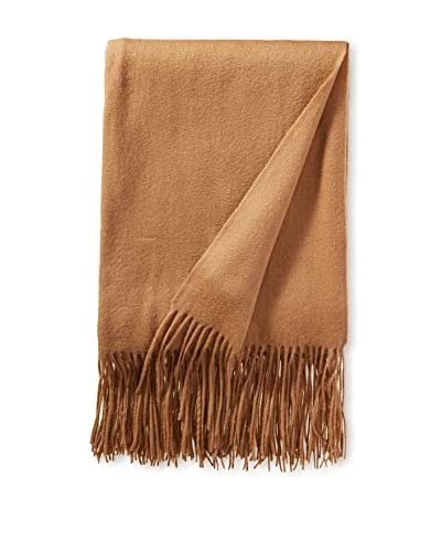 a & R Cashmere Wool & Cashmere Waterweave Throw, Camel
