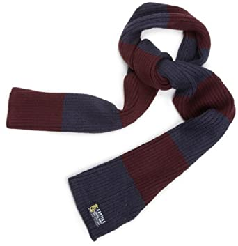 Nautica Men's Ribbed Colorblock Scarf, Burgendy, One Size