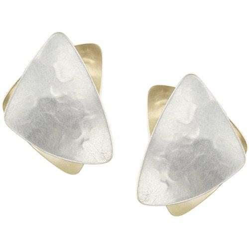 Marjorie Baer Stacked Triangle Clip Earring in Bra…