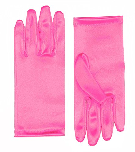 Forum Novelties Women's 9-Inch Satin Costume Gloves, Pink, One Size