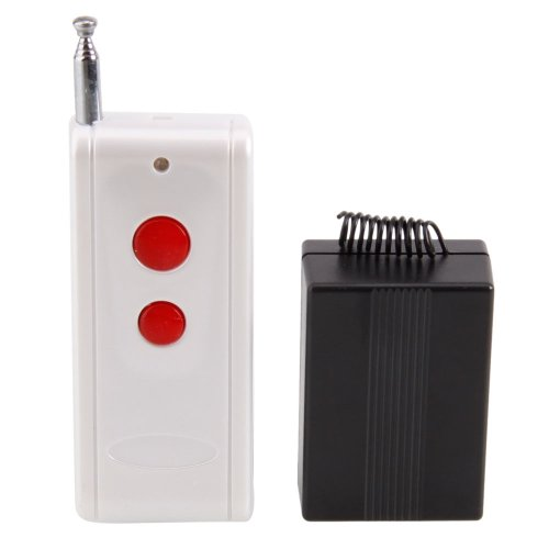 Crazy K&A 12V 10A Single Channel Wireless Remote Control Switch (1000M) 315 Mhz For Electrical Control Circuit White