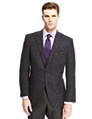 Savile Row Inspired Pure New Wool Herringbone Jacket