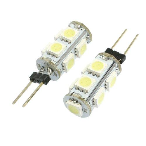 2 Stk Vertikal Polig G4 weiß 5050 SMD 9 geführt Lampe Licht Dashboard