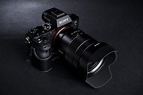 Handmade Genuine real Leather Half Camera Case bag cover for Sony A7 A7R II A7S M2 Mark II Mark II Black color (A7 Mark Ii Case Black compare prices)