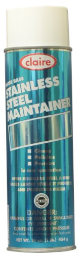 Claire C-844 16 Oz. Water Base Stainless Steel Maintainer Aerosol Can (Case of 12) (Claire Stainless Steel Cleaner compare prices)