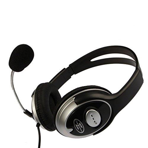 Über-Ohr-Stereo-Headset / Kopfhörer mit Mikrophon und Lautstärkeregler / Weiche Ohrpolster, Leichte und Langlebige / für PC, Laptop, Skype, Spiele Chat / iCHOOSE