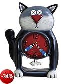 Allen Designs P1050 Orologio Black Kitty Resina, Design di Michelle Allen, 27.5 cm