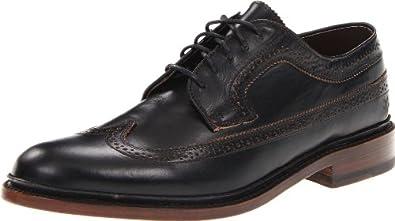 FRYE Men's James Wingtip Oxford Black Smooth-7594667 7 M US