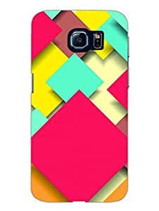 Samsung S6 Cover - Abstract Squares - Pattern - Designer Printed Hard Shell Case
