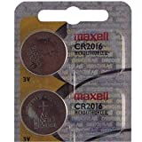 Two Maxell CR2016 Lithium Batteries for Streamlight Key Chain CuffMate Light
