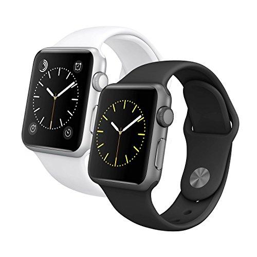 Apple-Watch-Sport-42mm-Smartwatch-Clock-Uhr-Aluminium-Fitnessarmband