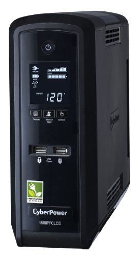 CyberPower CP1500PFCLCD UPS 1500VA 900W PFC Compatible Pure Sine Wave