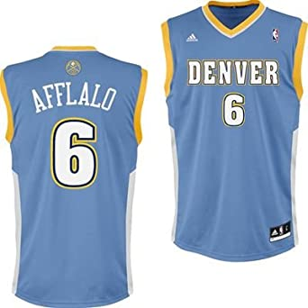 Aaron Afflalo Denver Nuggets Light Blue NBA Youth Revolution 30 Replica Jersey by adidas