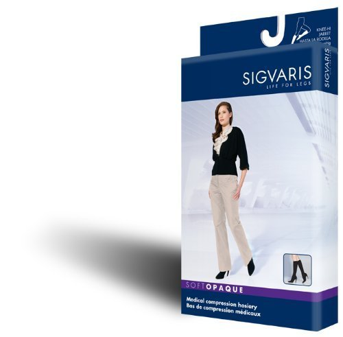 Sigvaris Soft Opaque 842PLLW35 20-30 mmHg Womens Closed Toe Panty, Nude, Large-Long by Sigvaris online kaufen