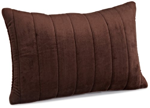 Brentwood Quilted Plush Memory Foam 13 By 18-Inch Pillow, Chocolate