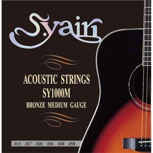 S.Yairi(ヤイリ) アコースティックギター弦medium gauge(0.13~0.58) SY-1000M/ミディアム