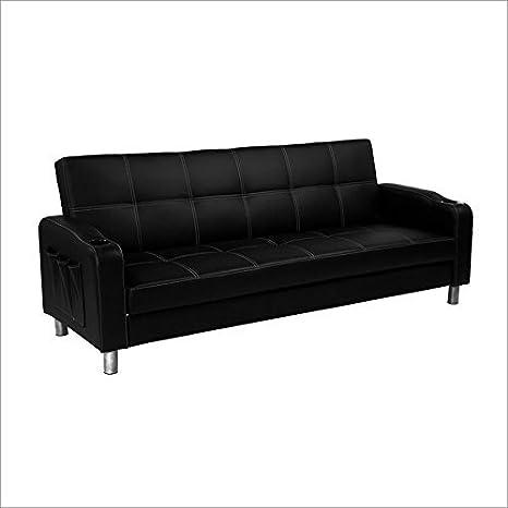Serta Dream Convertibles Aston Convertible Sofa in Black